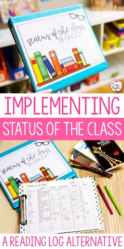 By implementing status of the class, I was able to keep my students accountable without killing their love of reading.  It was a hit in my classroom and student conversations about books were at an all time high.