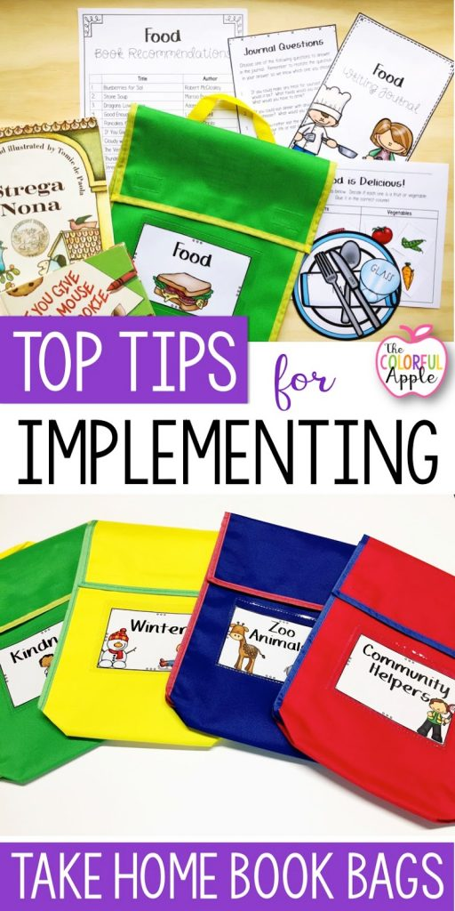 Take Home Book Bags helped get my students engaged in their reading every night at home.  Here are some tips for getting started with book bags in your classroom!
