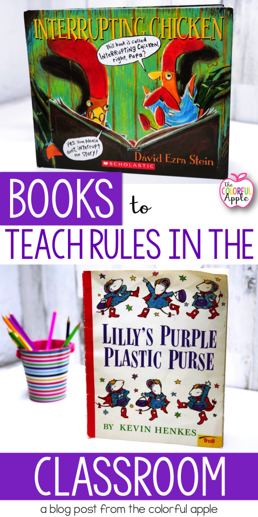 A great list of books to teach rules and procedures in school. Perfect for the first week of school or when classroom rules need to be reviewed.