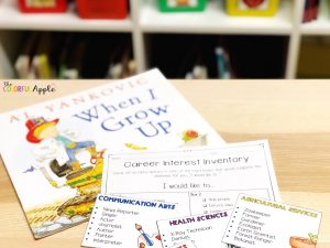 Career exploration books for kids to help them discover different jobs. A great list of picture books and activities to use for career day in elementary school.