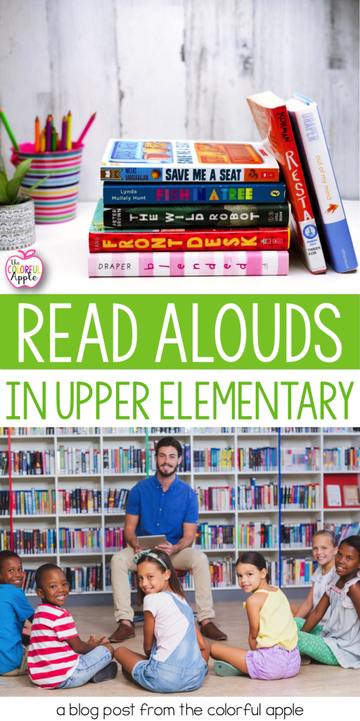 Read alouds in upper elementary classrooms is so important!  Using read alouds has huge benefits for older kids and your class community.
