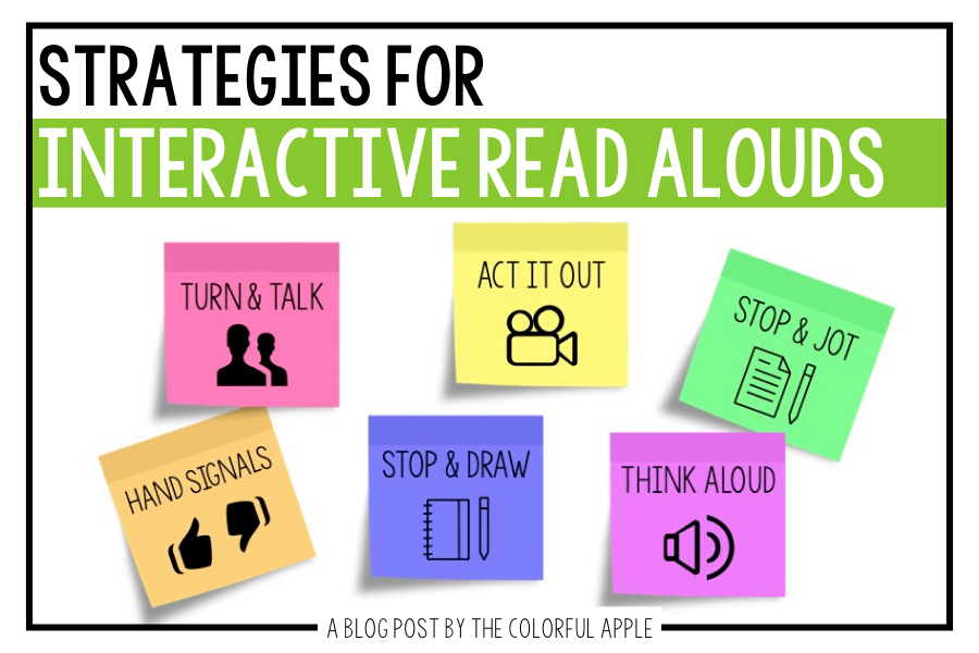 Using interactive read aloud strategies in the classroom will keep your students engaged.  Here are some great tools to get all your kids discussing books.