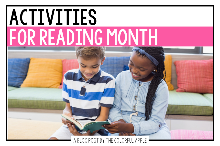 We celebrate reading all year, but here are some fun reading month activities for March!  A great way to switch things up in your classroom.