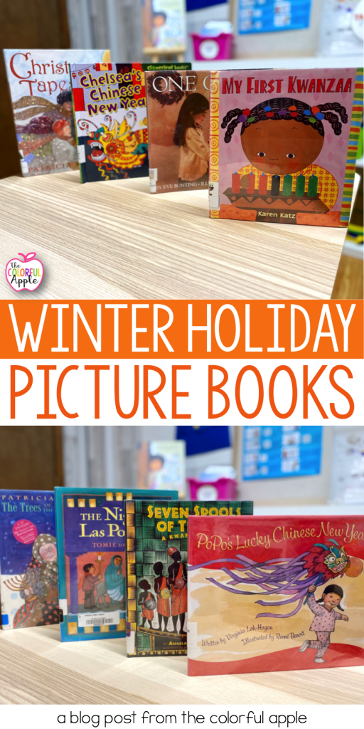 Winter holiday picture books are a great way to share all the different ways students celebrate during the months of December and January.