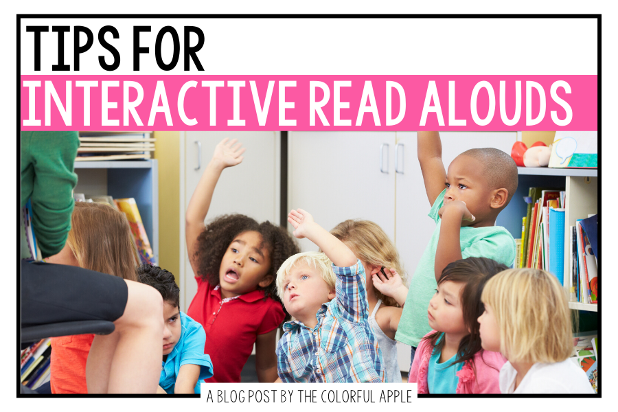 Check out these interactive read aloud tips!  An interactive read aloud is a great instructional tool for the elementary classroom!