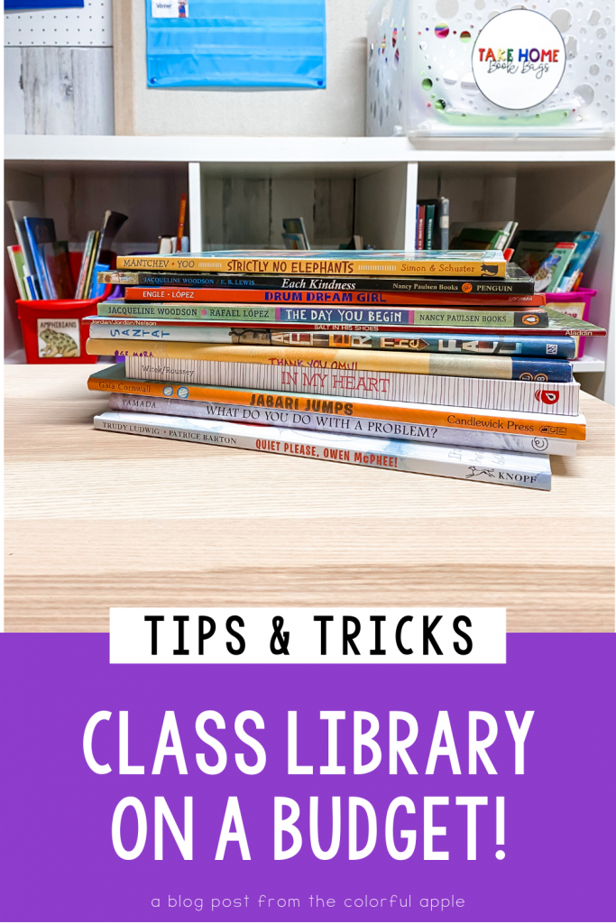 Building a classroom library on a budget can be tricky! We want our students to have access to lots of books, so here are a few tips!