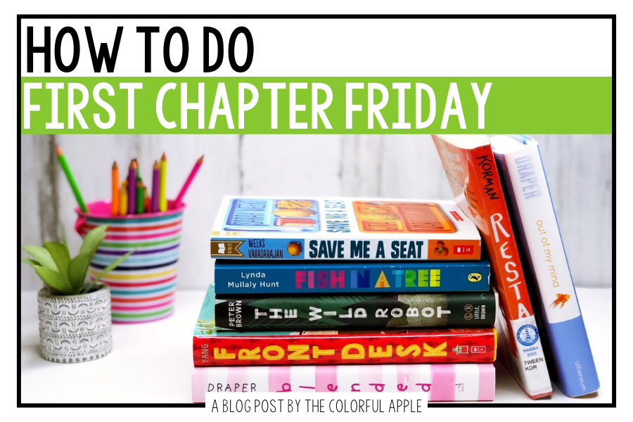 First Chapter Fridays will get your students eager to read more novels than ever before! Grab a free book list to get started!