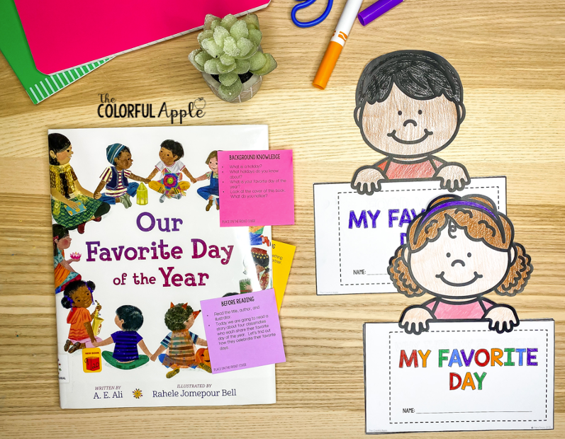 Our Favorite Day of the Year free interactive read aloud lesson!