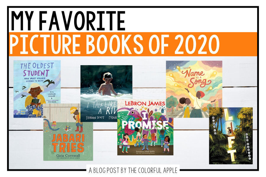 The best picture books of 2020 to share in your elementary classroom. Great books to read-aloud any time of the year!