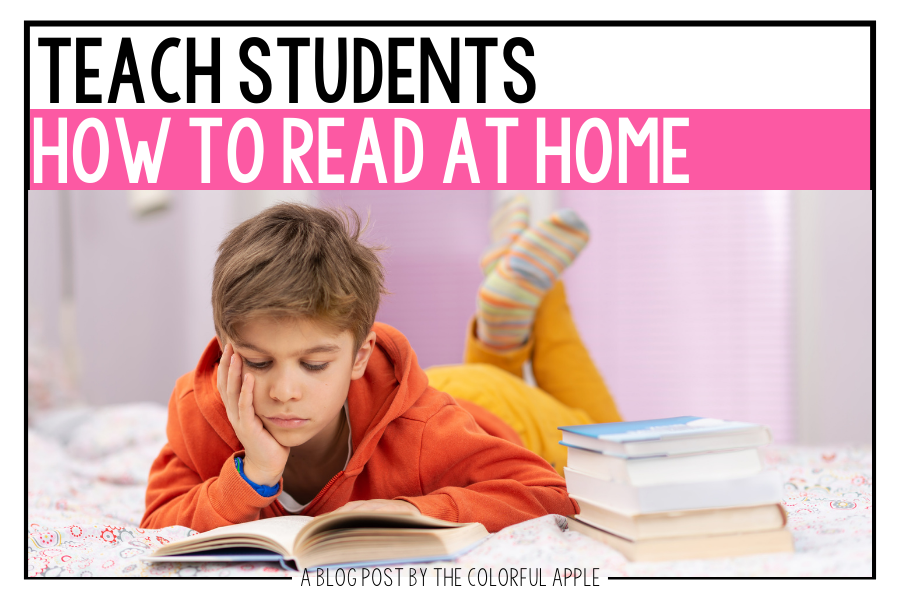 It can be difficult for students to read on their own at home.  This lesson will help you teach them how to be successful!