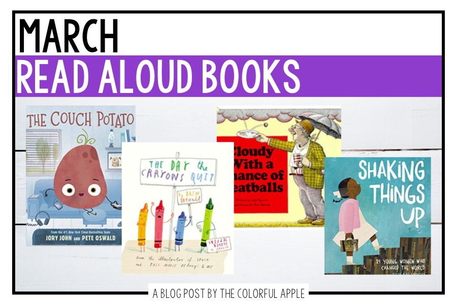 These read aloud books for March are great to share with your students! The picture books are perfect for celebrating national holidays.