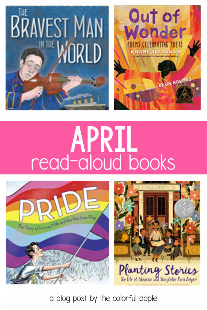 These read aloud books for April are great to share with your students! The picture books are perfect for celebrating national holidays.