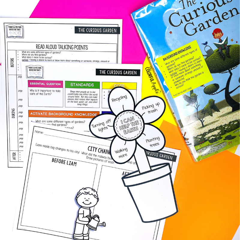 Free Earth Day read aloud lesson for The Curious Garden book!