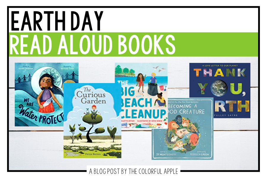 Picture books are a great way to teach students about Earth Day!  These books will inspire and motivate your students to take action!