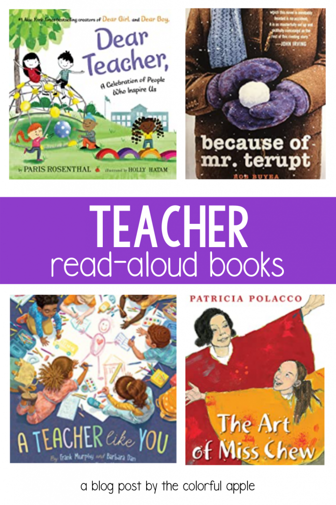 These read aloud books about teachers are perfect for Teacher Appreciation Day!  They make wonderful gifts for teachers and good read alouds.
