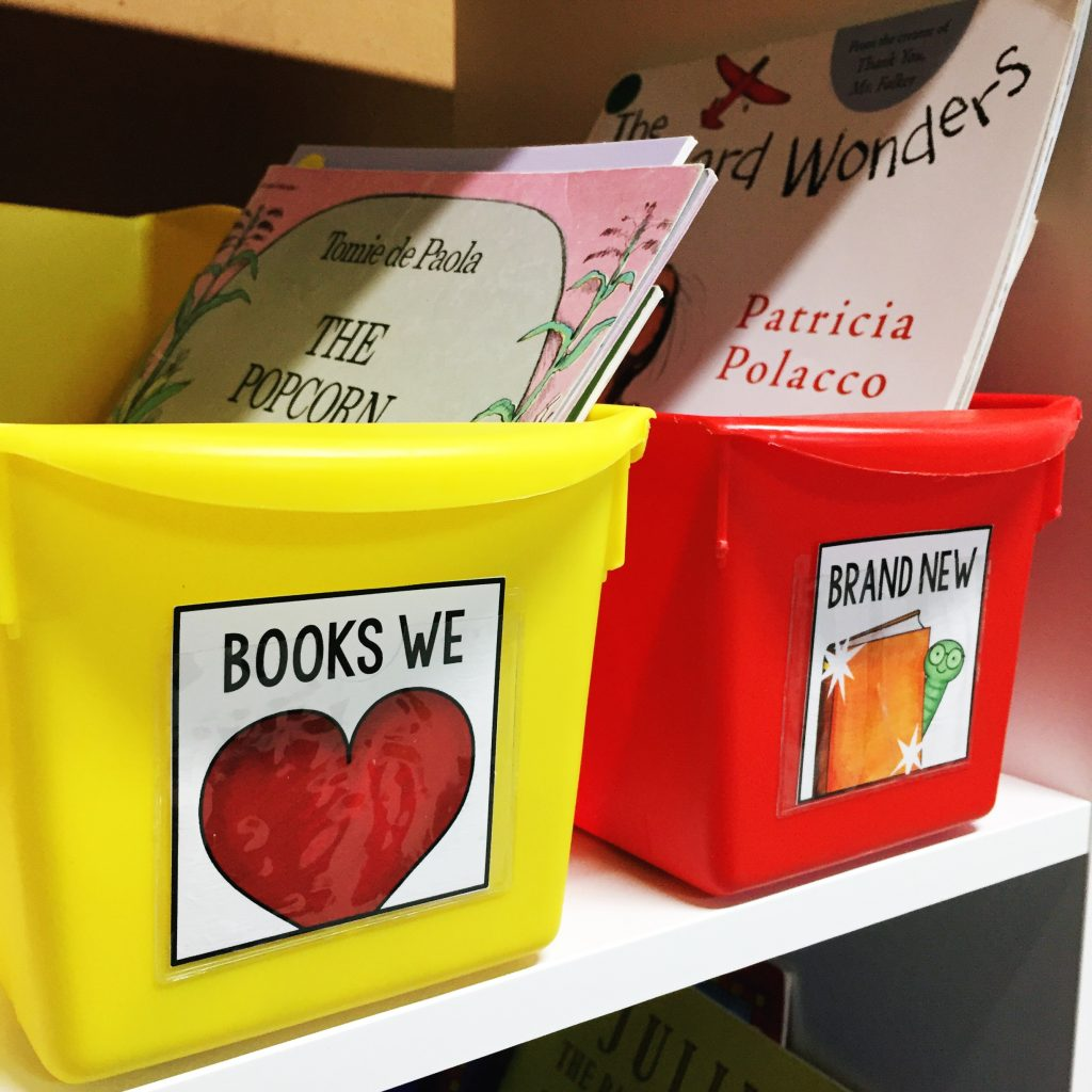 Label your classroom book bins so that students can easily find their favorite books!
