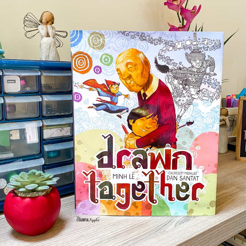 May is Asian American & Pacific Islander Heritage Month. Drawn Together is a great book to read aloud in the classroom to celebrate these voices.