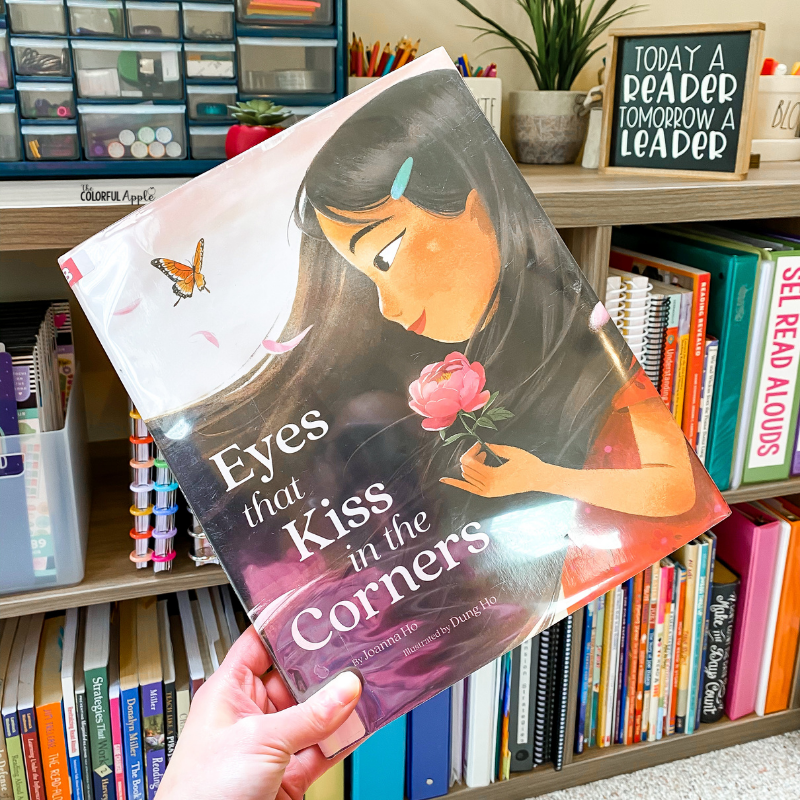 May is Asian American & Pacific Islander Heritage Month. Eyes that Kiss in the Corners is a great book to read aloud in the classroom to celebrate these voices.