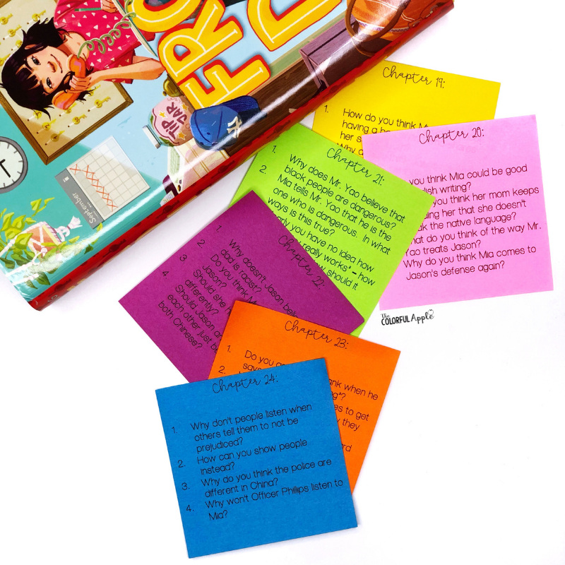 Discussion questions for the book Front Desk by Kelly Yang.  A great way to engage your students in the novel!