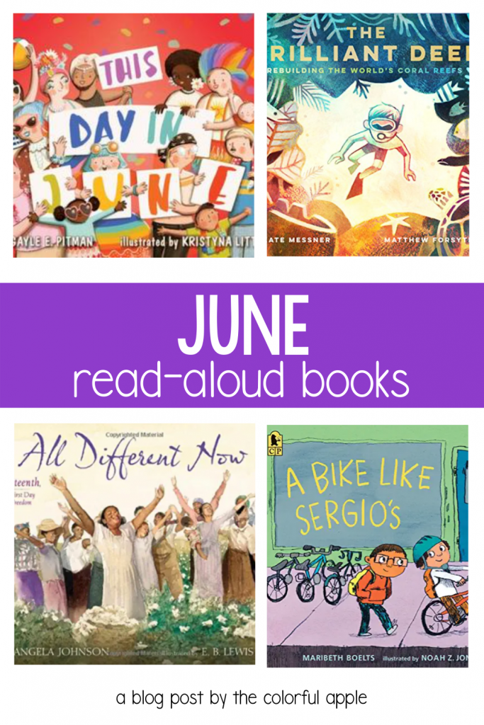 Need some read aloud books for June? This post is full of books to celebrate the unique holidays in the month!