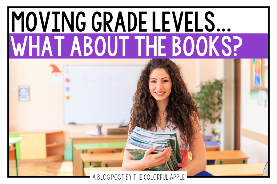 So you just found out that you are moving grade levels next year...what do you do with all your books? Here are some ideas for you!