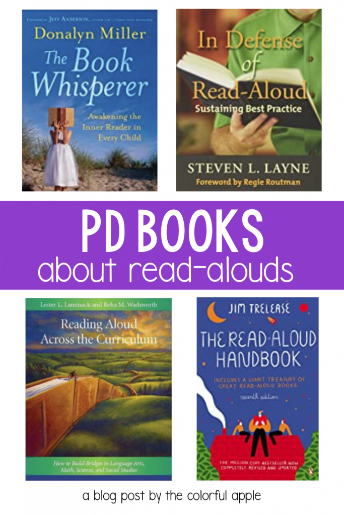 There is so much more to reading aloud than just grabbing a book.  Hear what the experts say in these read aloud PD books!