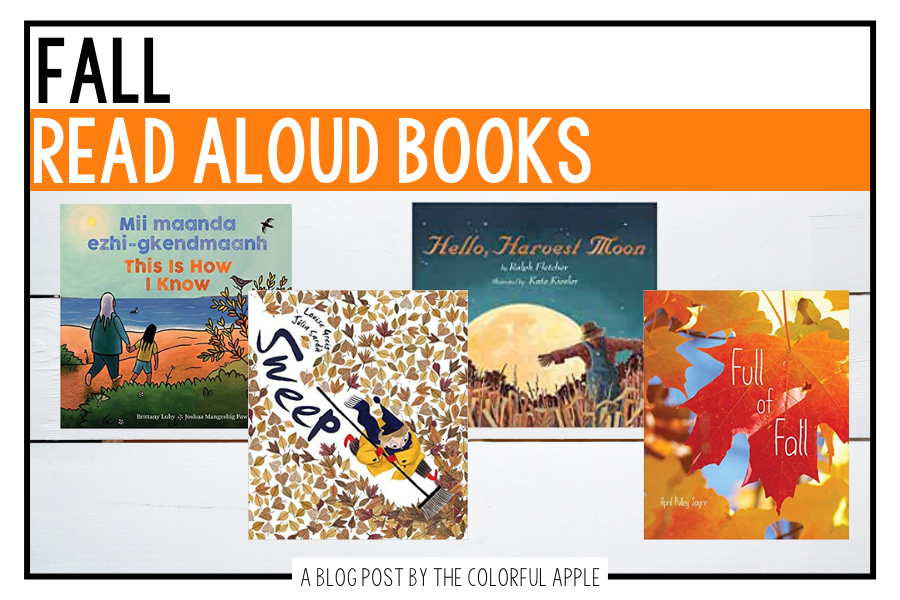 These fall read aloud books are perfect to share in the classroom! Each one celebrates the new season and also has teaching points as well.